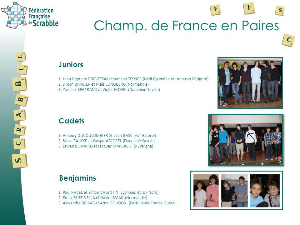 Champ. de France en Paires