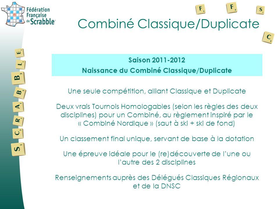 Combiné Classique/Duplicate