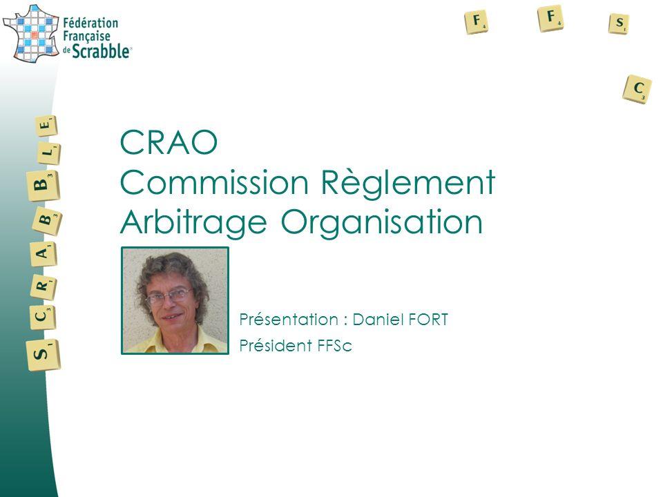 Commission Règlement Arbitrage Organisation