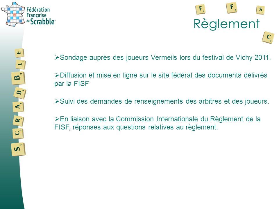 Règlement Sondage auprès des joueurs Vermeils lors du festival de Vichy 2011.