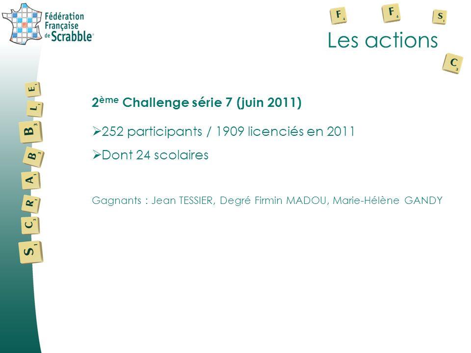 Les actions 2ème Challenge série 7 (juin 2011)