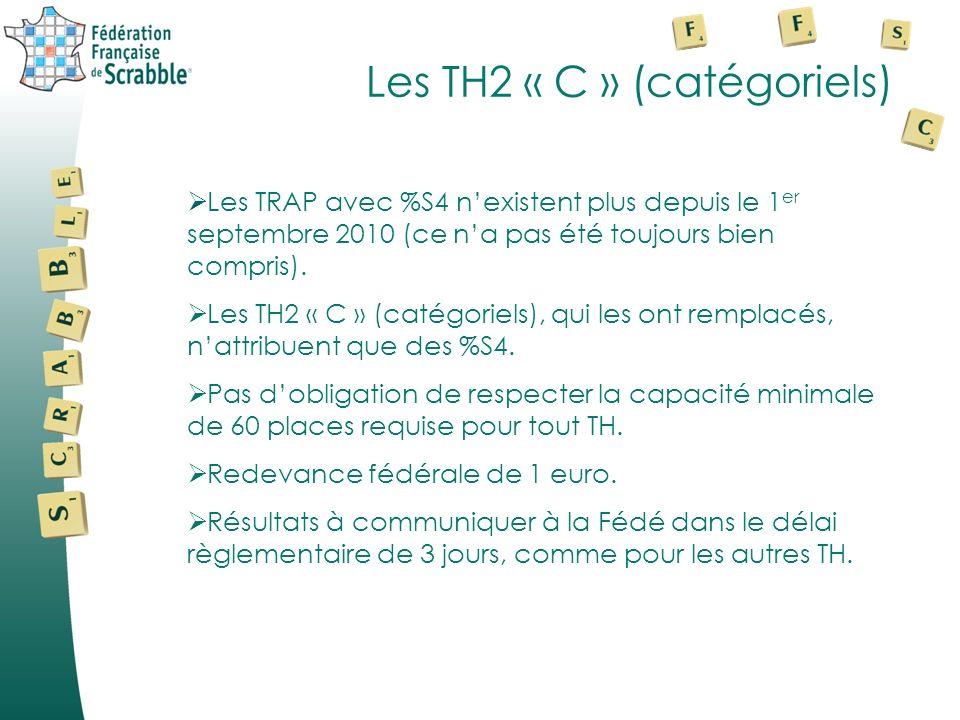 Les TH2 « C » (catégoriels)