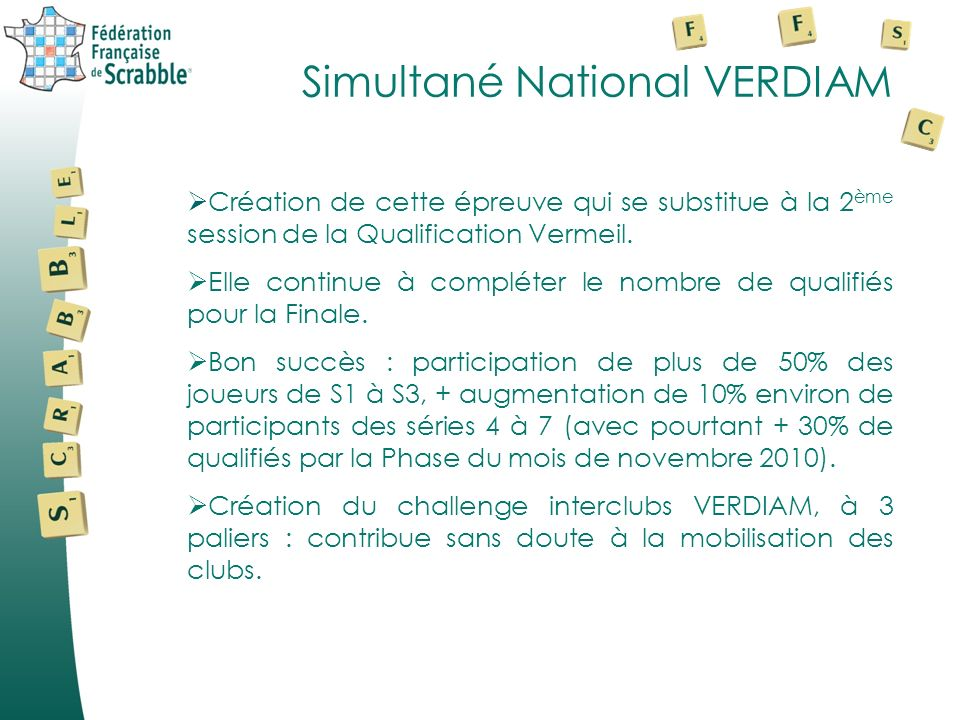 Simultané National VERDIAM