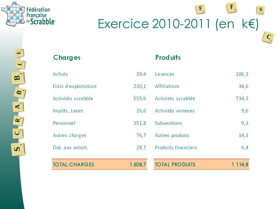 Exercice 2010-2011 (en k€)