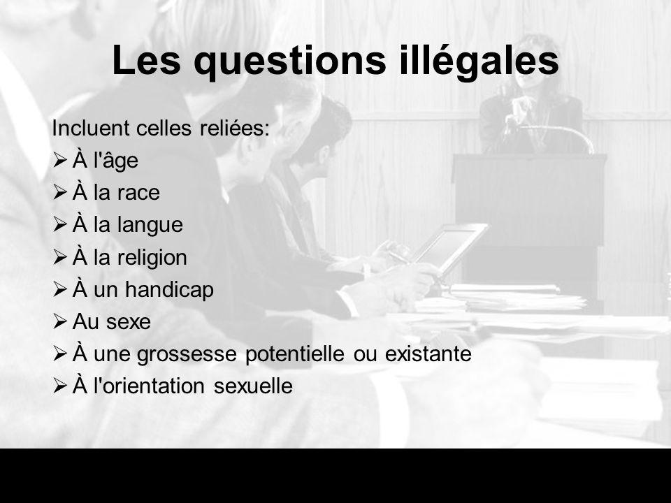 Les questions illégales