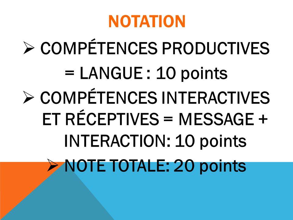 COMPÉTENCES PRODUCTIVES