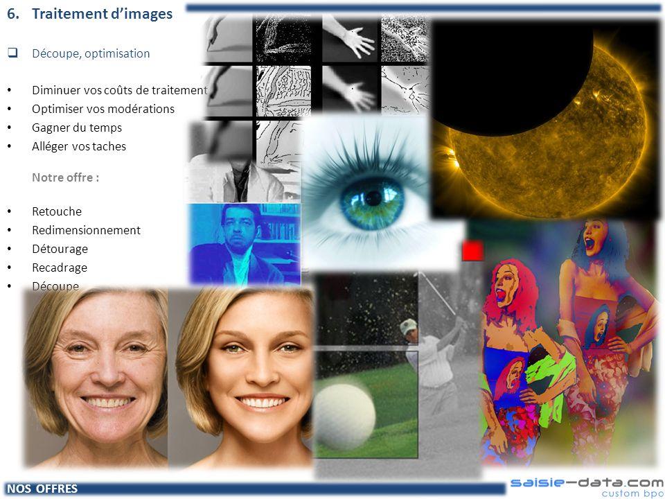 6. Traitement d'images Découpe, optimisation