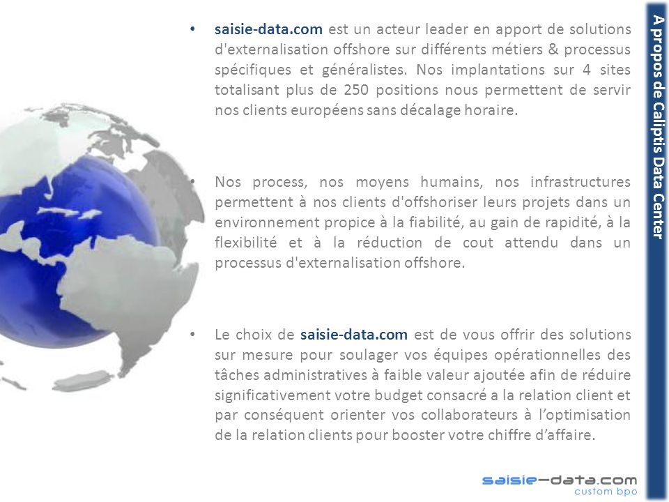 A propos de Caliptis Data Center