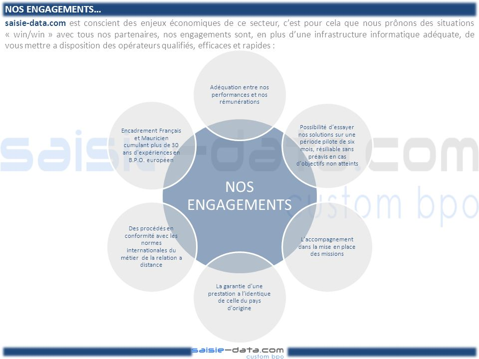 NOS ENGAGEMENTS…