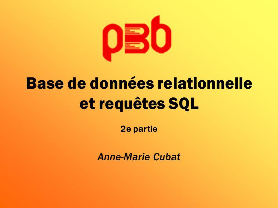 Base de données relationnelle et requêtes SQL
