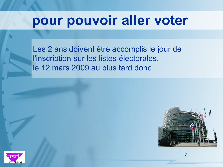 pour pouvoir aller voter