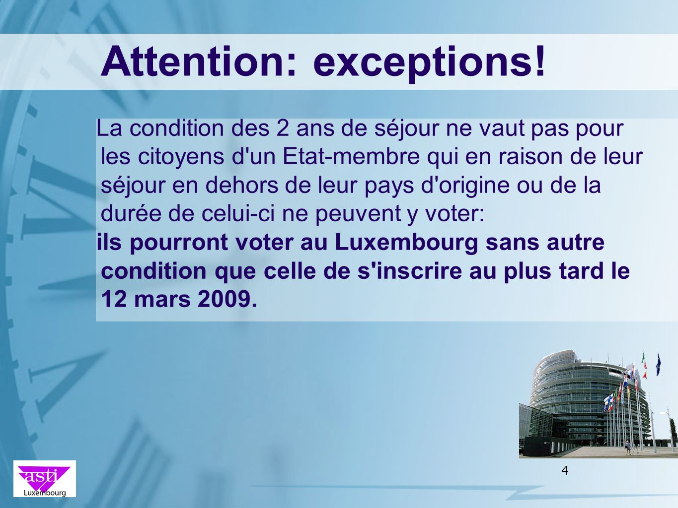 Attention: exceptions!