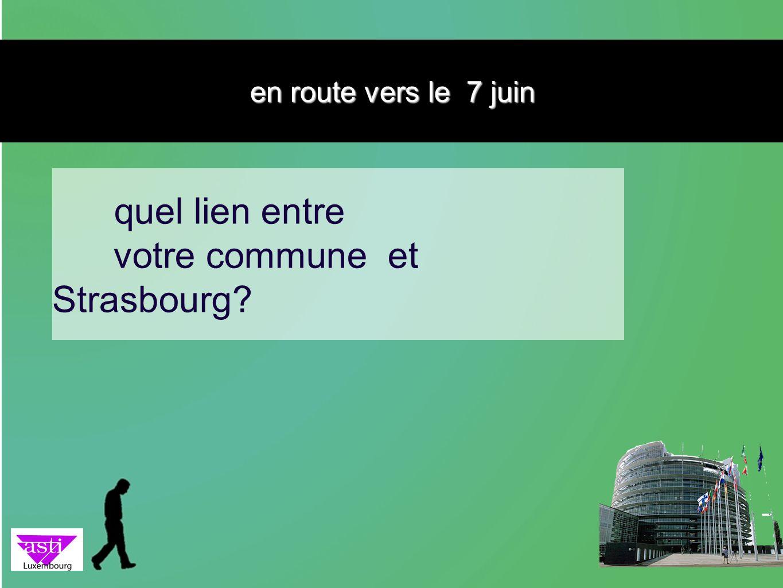 votre commune et Strasbourg