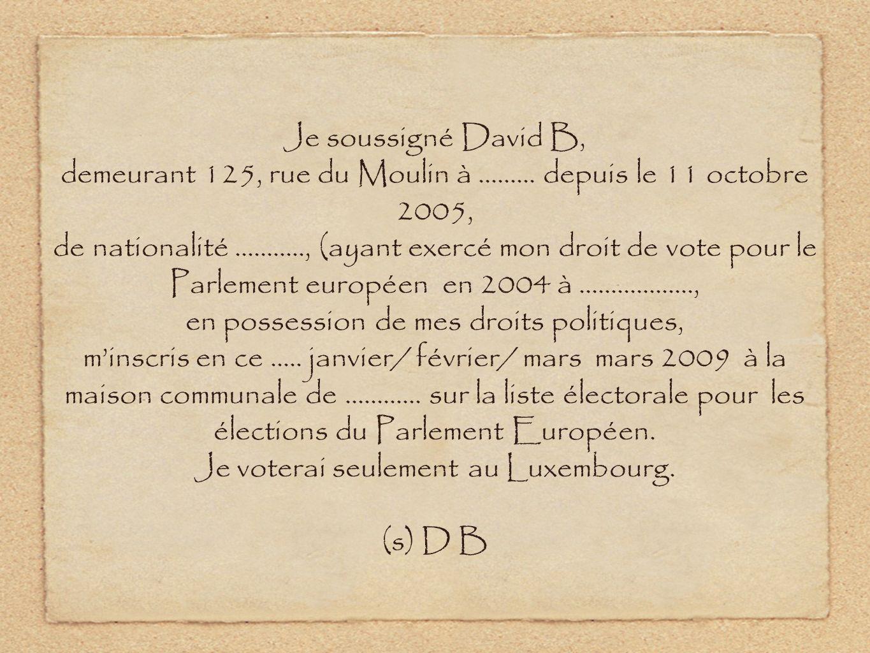 demeurant 125, rue du Moulin à ......... depuis le 11 octobre 2005,