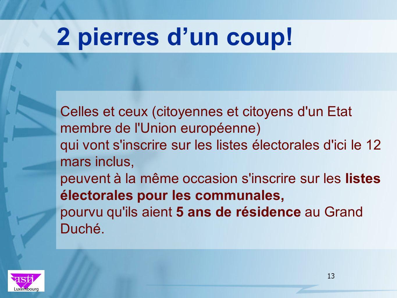 2 pierres d'un coup! Celles et ceux (citoyennes et citoyens d un Etat membre de l Union européenne)