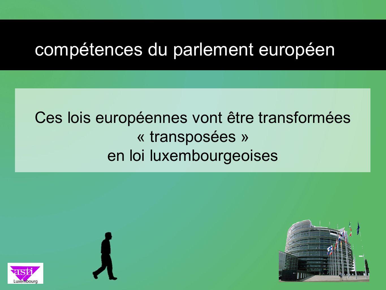 compétences du parlement européen