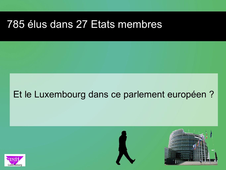 785 élus dans 27 Etats membres