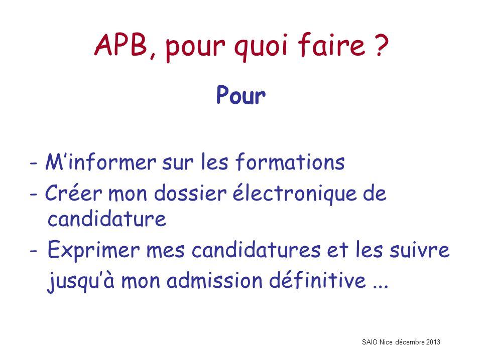 APB, pour quoi faire Pour - M'informer sur les formations