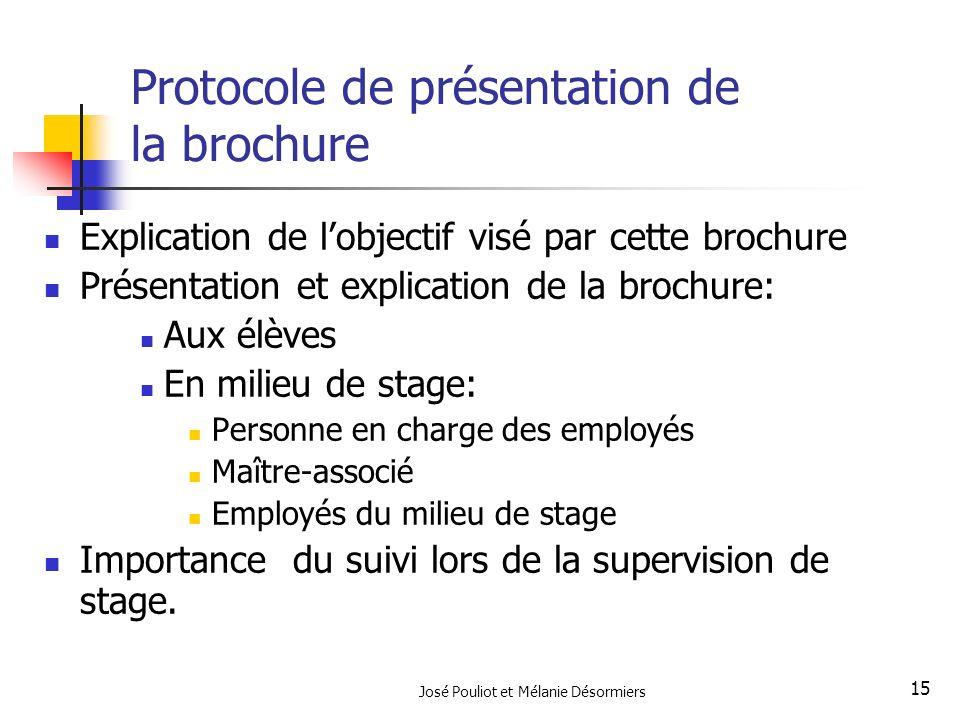 Protocole de présentation de la brochure