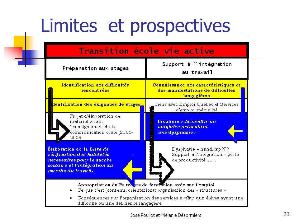 Limites et prospectives