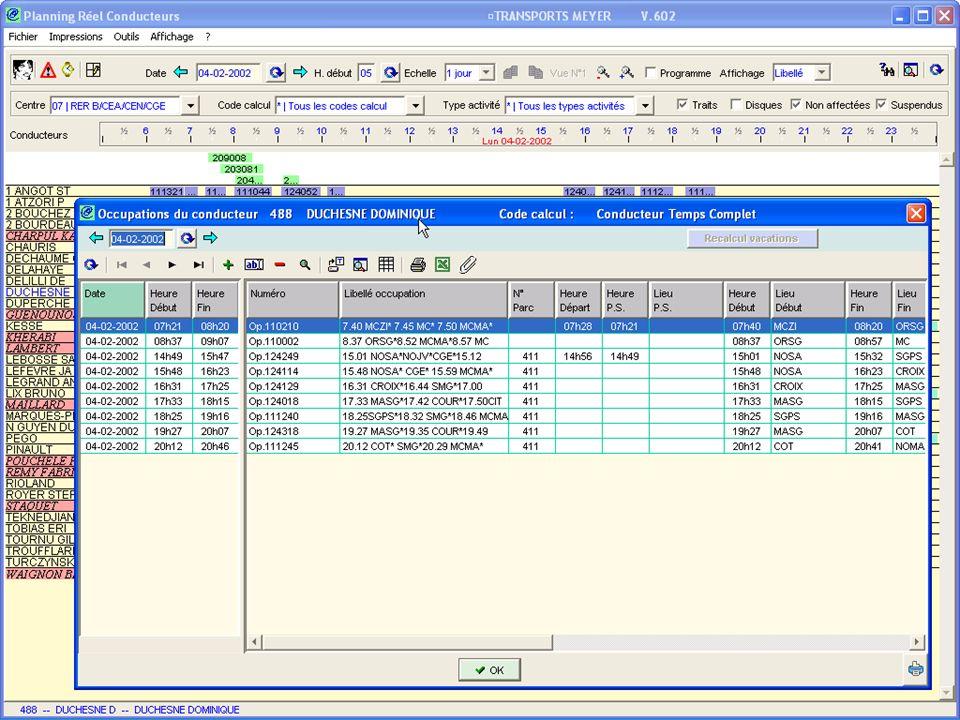 Occupations-Conducteur : Liste Occupations