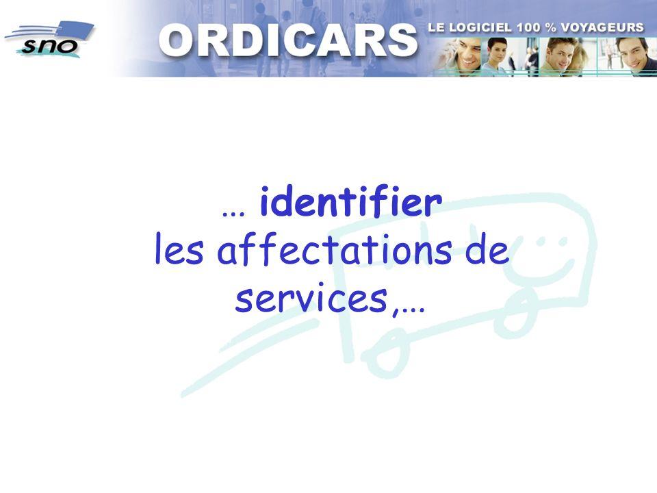 … identifier les affectations de services,…