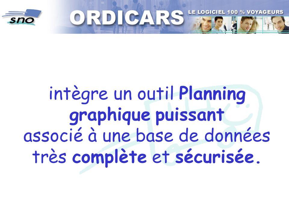 intègre un outil Planning graphique puissant associé à une base de données très complète et sécurisée.