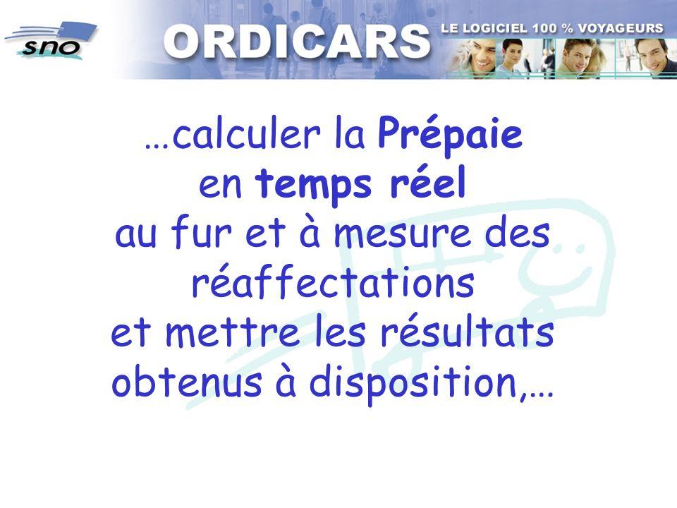 …calculer la Prépaie en temps réel au fur et à mesure des réaffectations et mettre les résultats obtenus à disposition,…