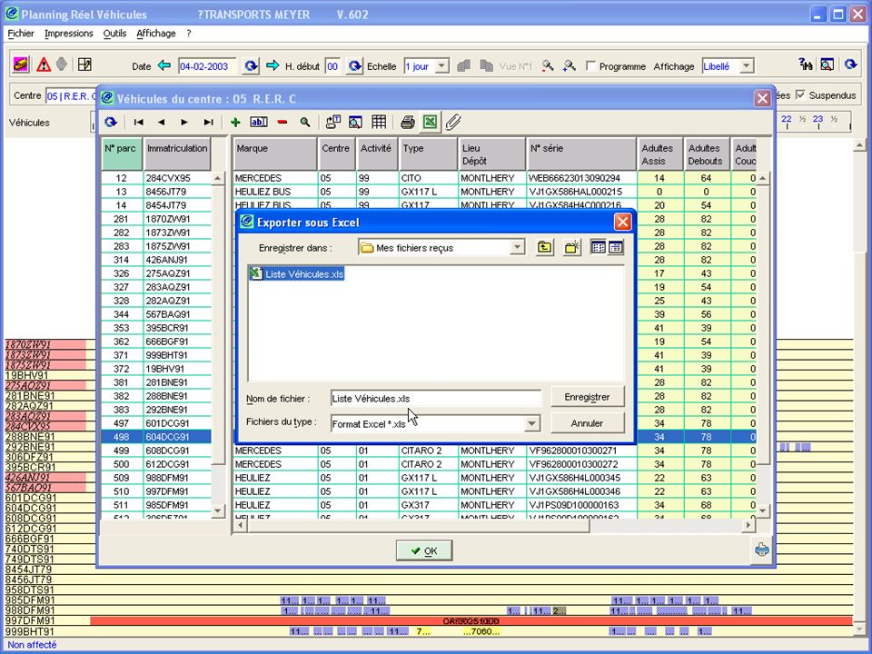 Liste Excel