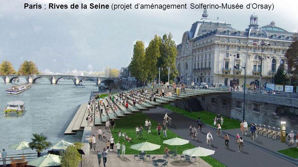 Paris ; Rives de la Seine (projet d'aménagement Solferino-Musée d'Orsay)
