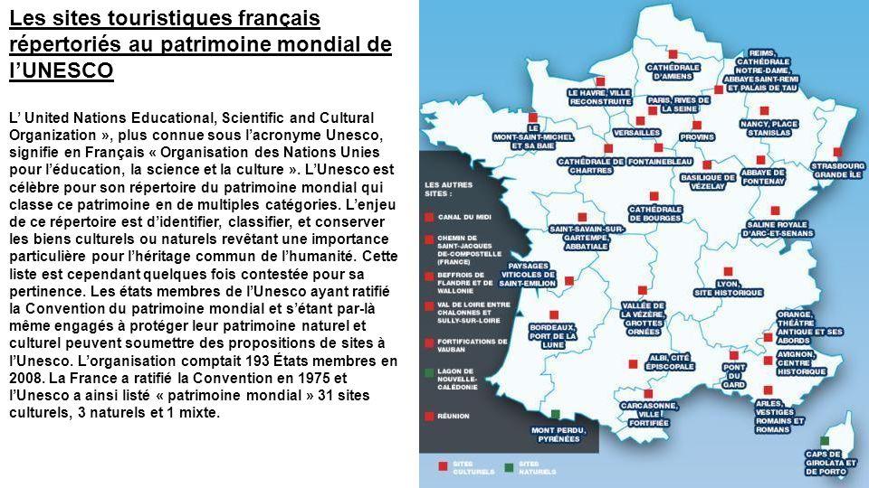 Les sites touristiques français répertoriés au patrimoine mondial de l'UNESCO
