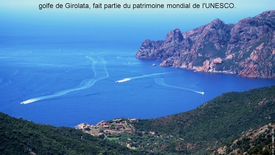 golfe de Girolata, fait partie du patrimoine mondial de l UNESCO.