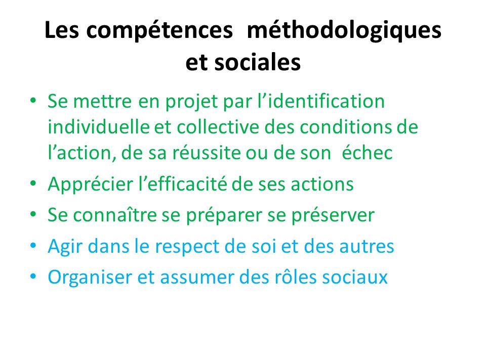 Les compétences méthodologiques et sociales