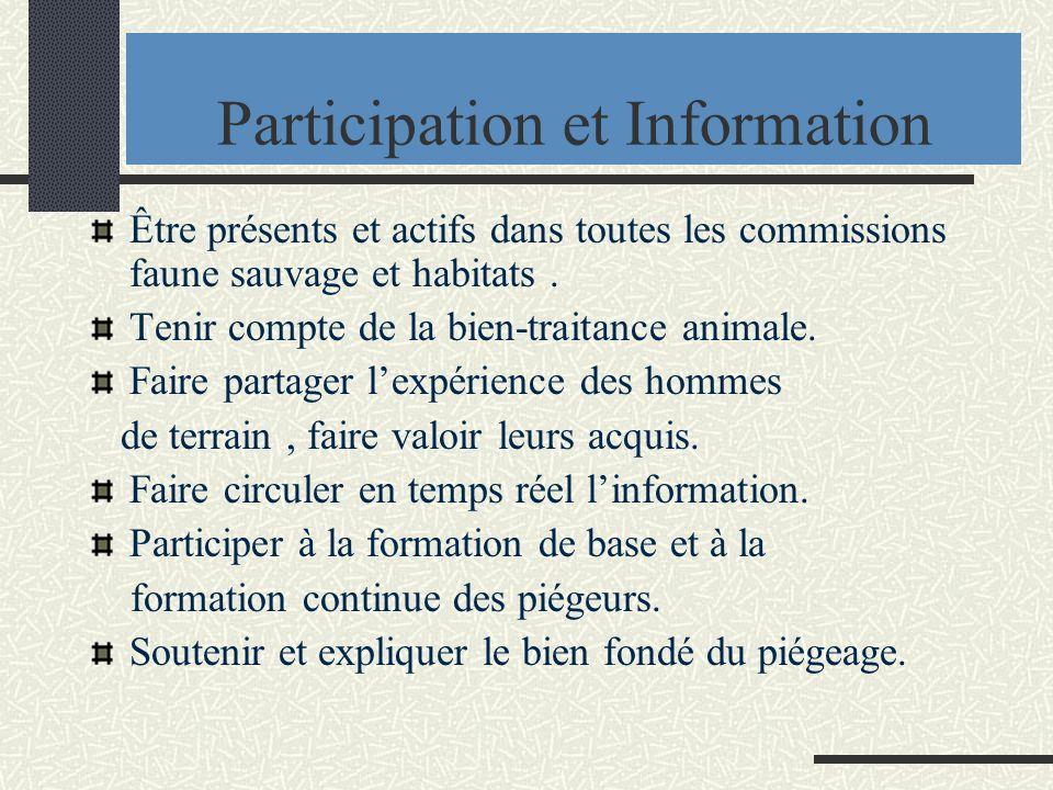 Participation et Information