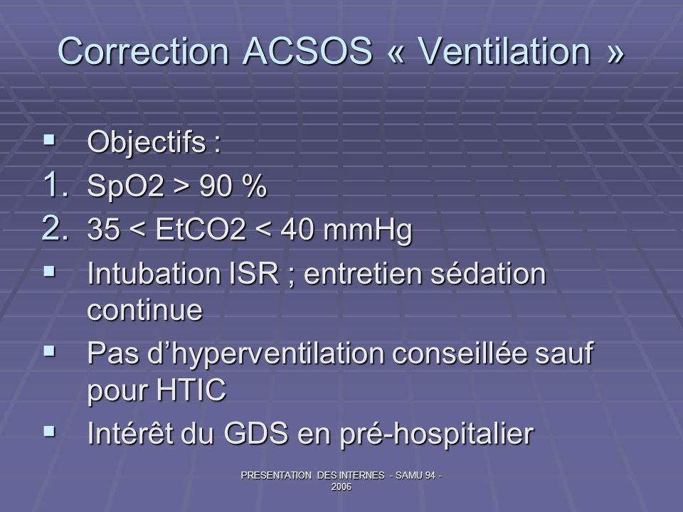 Correction ACSOS « Ventilation »
