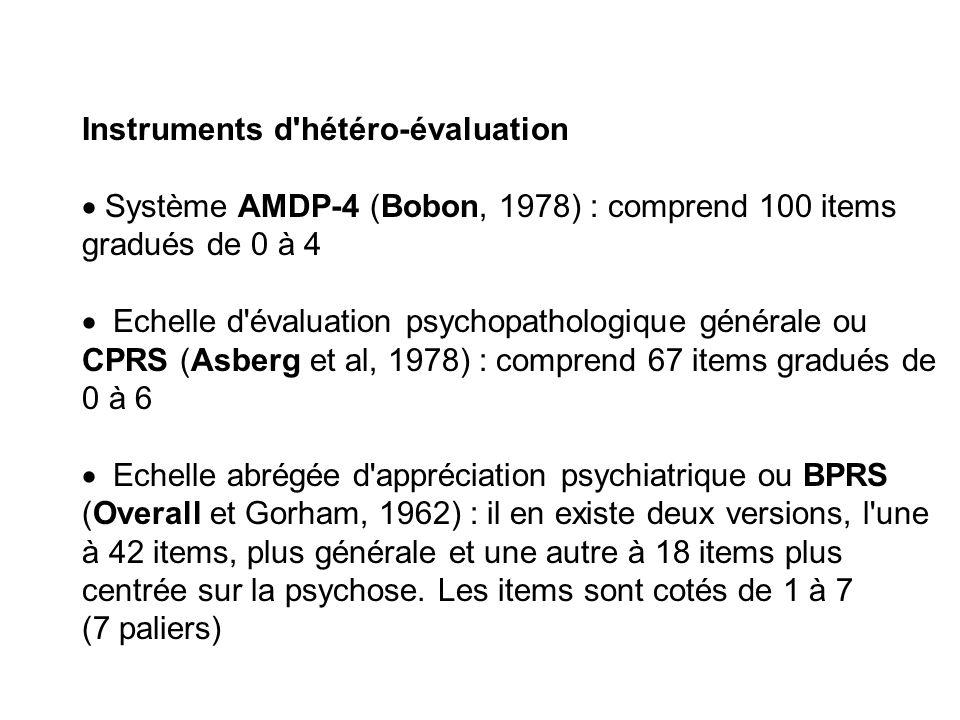 Instruments d hétéro-évaluation