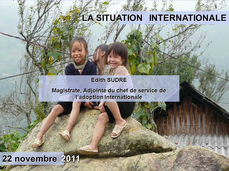 Magistrate, Adjointe du chef de service de l'adoption Internationale