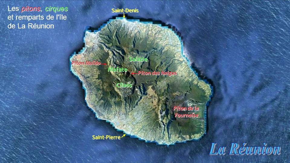 La Réunion Les pitons, cirques et remparts de l île de La Réunion