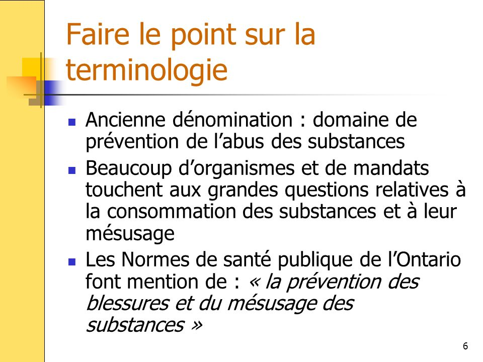 Faire le point sur la terminologie