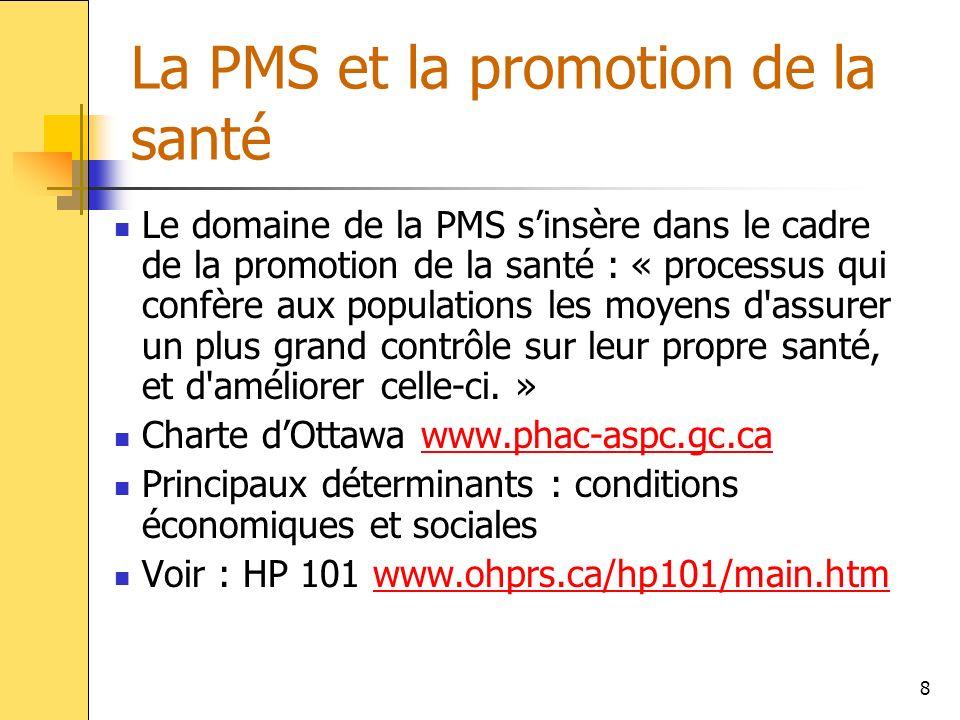 La PMS et la promotion de la santé