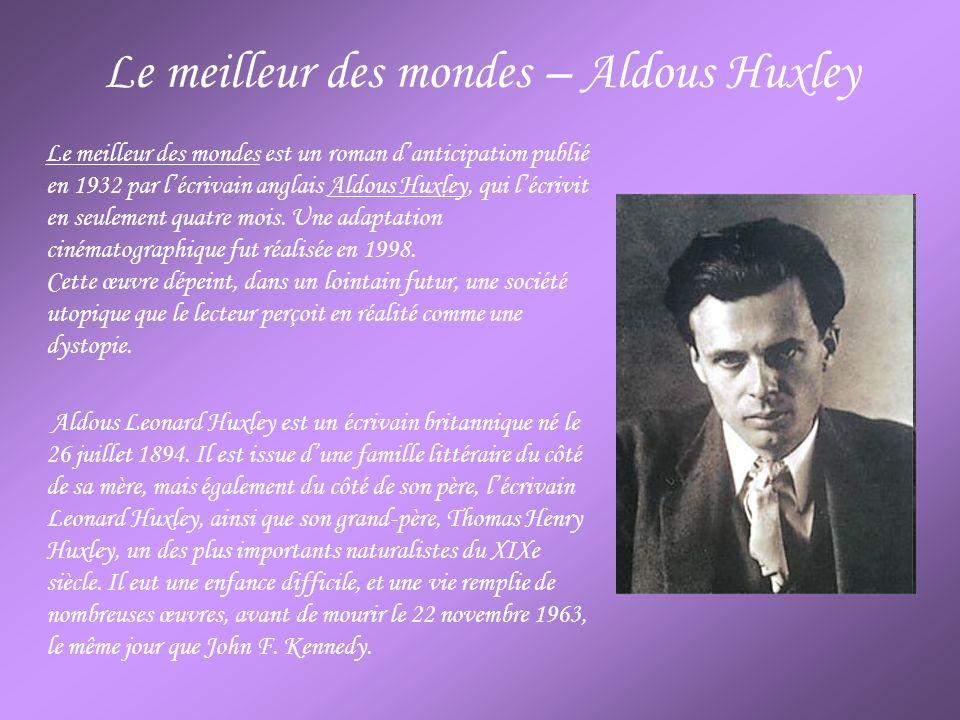 Le meilleur des mondes – Aldous Huxley