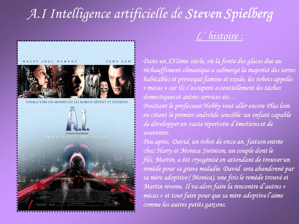 A.I Intelligence artificielle de Steven Spielberg