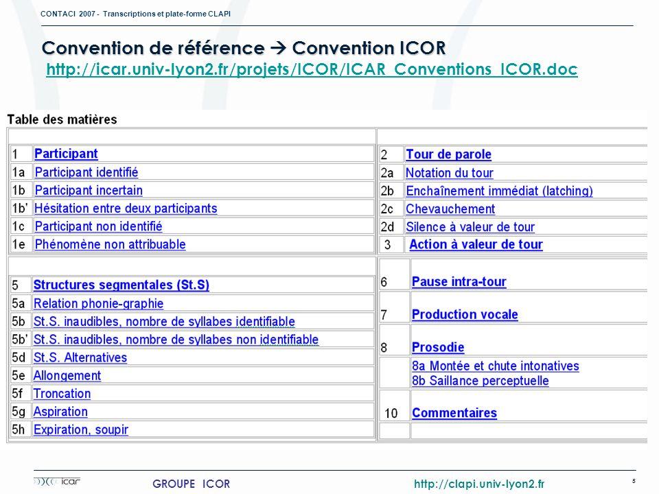 GROUPE ICOR http://clapi.univ-lyon2.fr