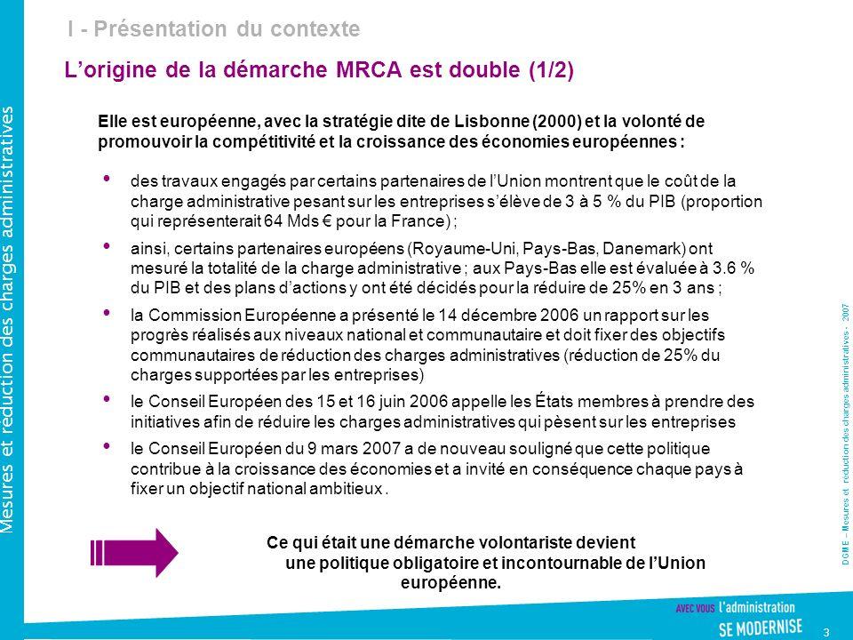 L'origine de la démarche MRCA est double (1/2)