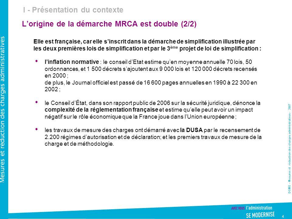 L'origine de la démarche MRCA est double (2/2)