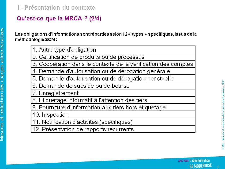 Qu'est-ce que la MRCA (2/4)
