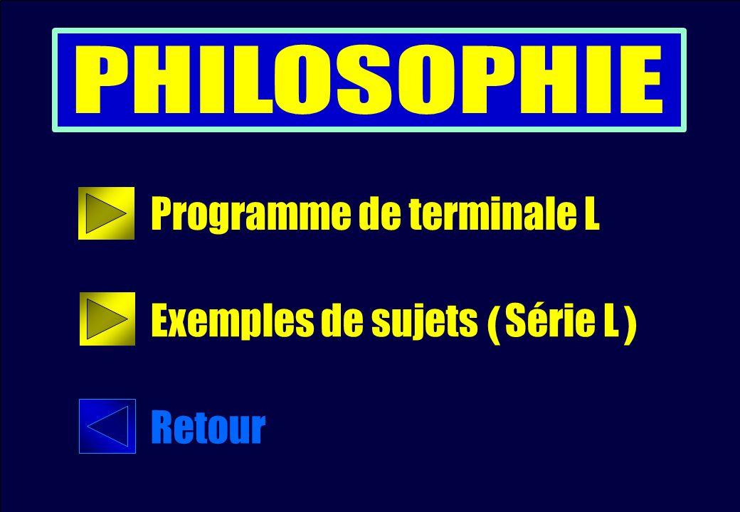Programme de terminale L