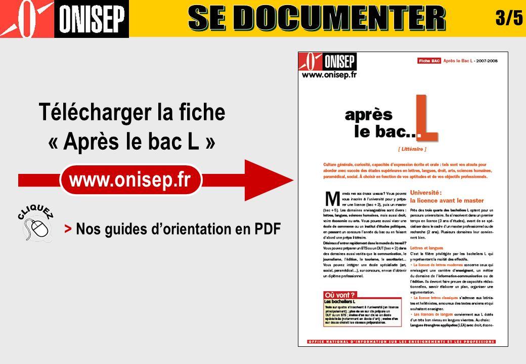 > Nos guides d'orientation en PDF