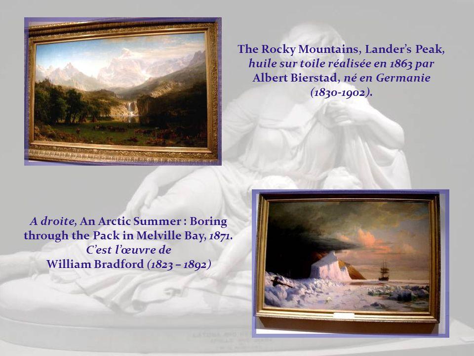 The Rocky Mountains, Lander's Peak, huile sur toile réalisée en 1863 par Albert Bierstad, né en Germanie