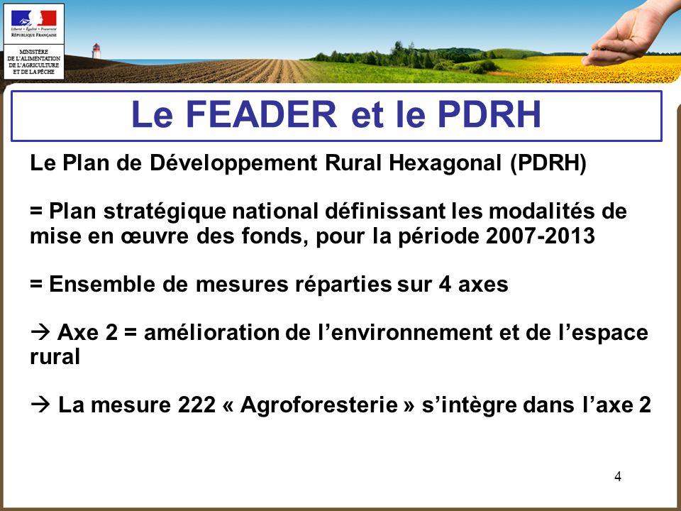 Le FEADER et le PDRH Le Plan de Développement Rural Hexagonal (PDRH)
